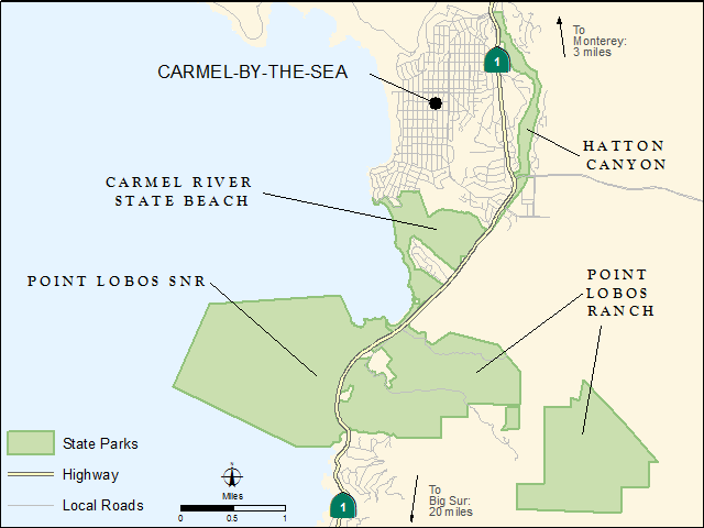 Carmel Area State Parks - General Plan map