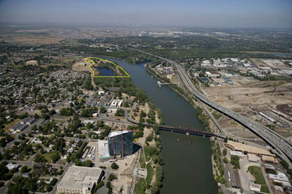 California Indian Heritage Center aerial view