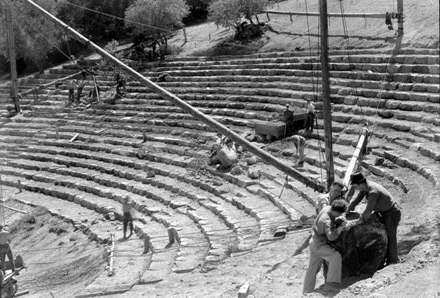 Construction of the Mountain Theatre