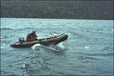 Image of crew in raft
