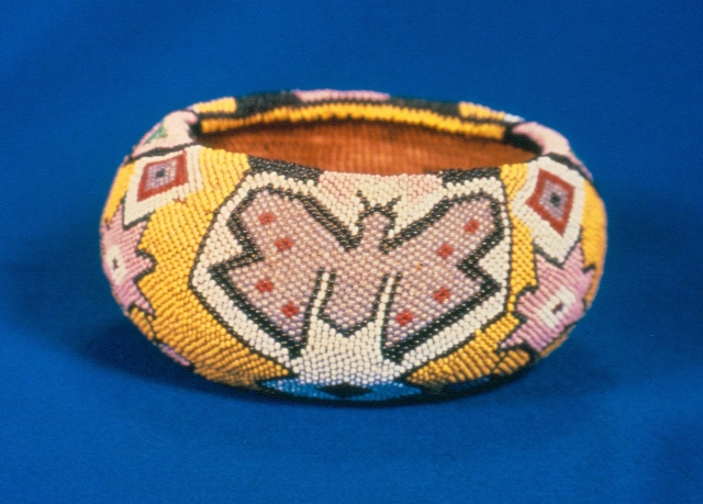 Butterfly Beaded Basket
