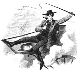 Dare-devil stage driver by J. Ross Browne, Harpers, 1862