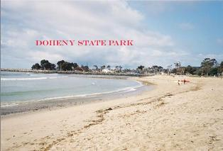 Famous for the local surfing conditions it is rare to see the waters of Doheny State Beach without surfers.