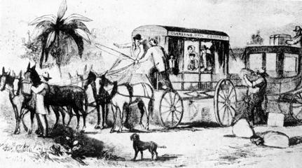 Celebration of the First Transcontinental Mail Delivery was on August 31, 2007 in Old Town San Diego State Historic Park.