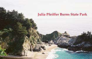 Julia Pfeiffer Burns State Underwater Park runs approximately 2.5 miles along the Big Sur coast