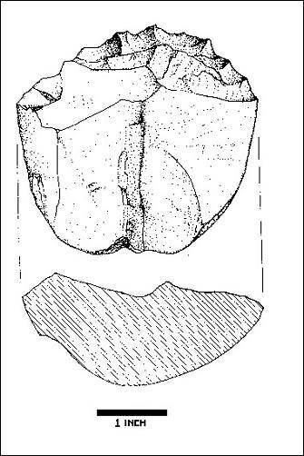 Illustration of lithic cores
