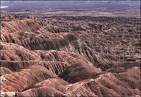 Image of eroded badlands