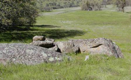 Possible man made rock formation in Sutter Buttes