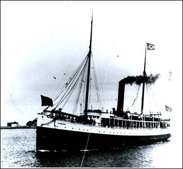 SS Pomona prior to shipwreck
