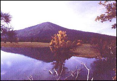 "Soldier Mountain, Shasta County, California. This is a known ""power place"" for local Native Americans, and there is a pitted boulder atop the peak. Elevation is a supernatural boundary."