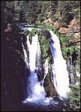 "Burney Falls, Shasta County, California. This is a known ""power place"" for local Native Americans. Water is a supernatural boundary."