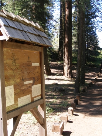 Sunset Point provides a self-guided tour of the archaeological resources.