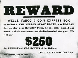 Wells Fargo Reward Poster