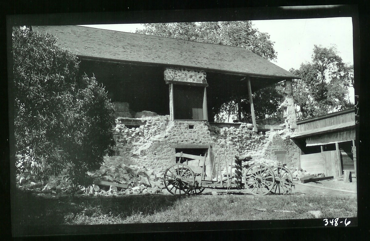 Jack London's Beauty Ranch in Glen Ellen sustained damage from the 1906 Earthquake