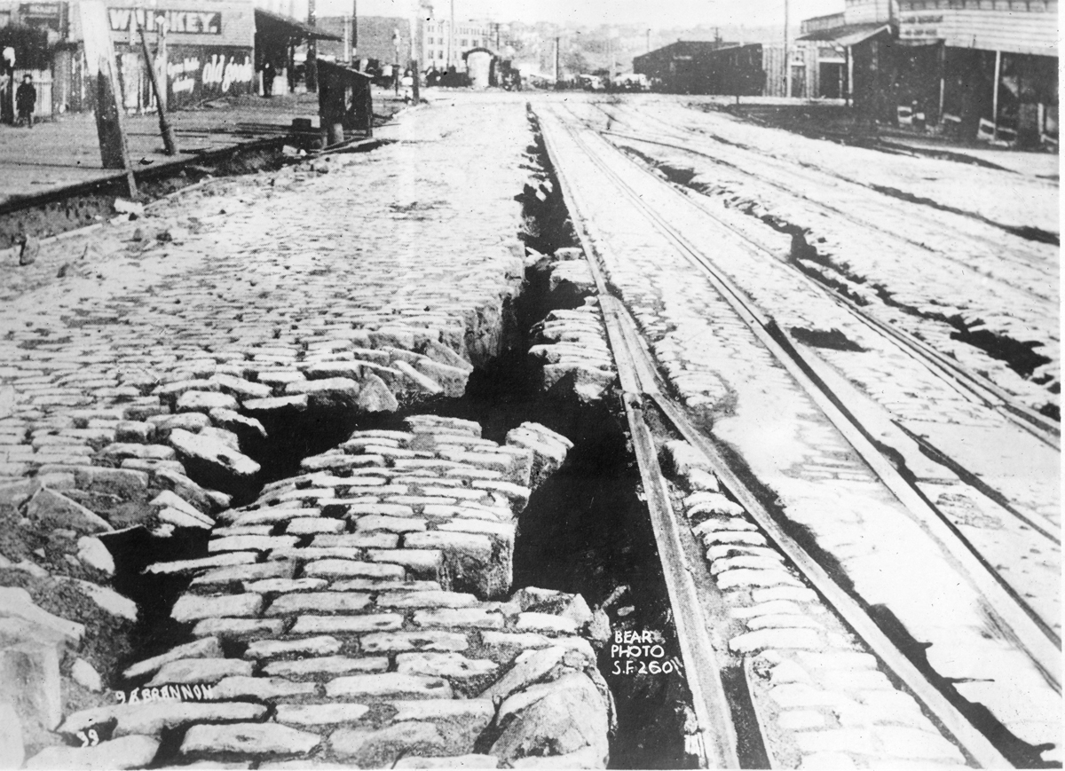 San Francisco fissure 1906: Photo Courtesy of the California History Room, California State Library