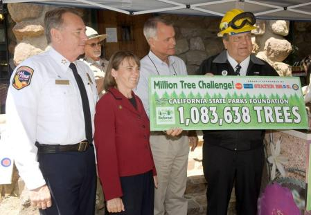 California State Parks Director, Ruth Coleman and others at the