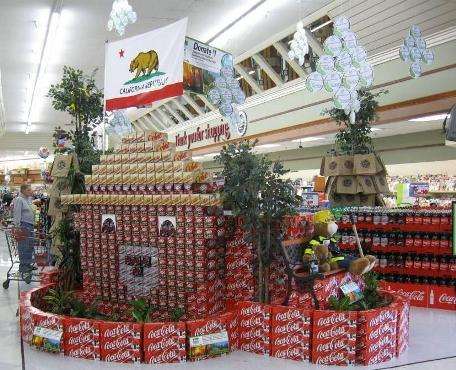 Stater Bros. Markets In-Store Display for Coca Cola Reforest California campaign