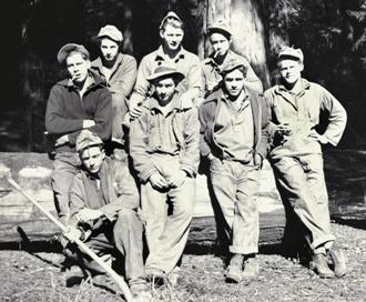 CCC planting crew members at Humboldt Redwoods in 1935