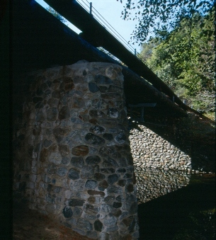 CCC stonework of the Weyland Bridge in Pfeiffer Big Sur, photo by Joe Engbeck