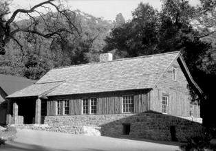 CCC built Warden's Residence at Green Valley Falls campground in 1935