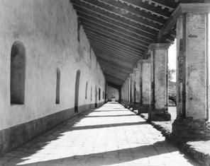 Corridor of the Mission residence building in 1937