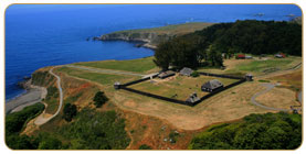 Aerial View of Fort Ross State Historic Park