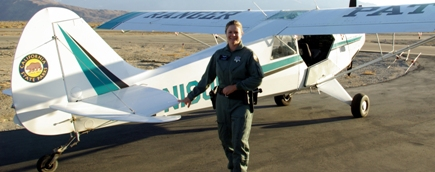 Kelly McCague is State Parks only Pilot Ranger.