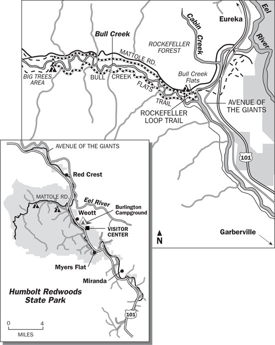 Bull Creek Flats Loop Trail Map