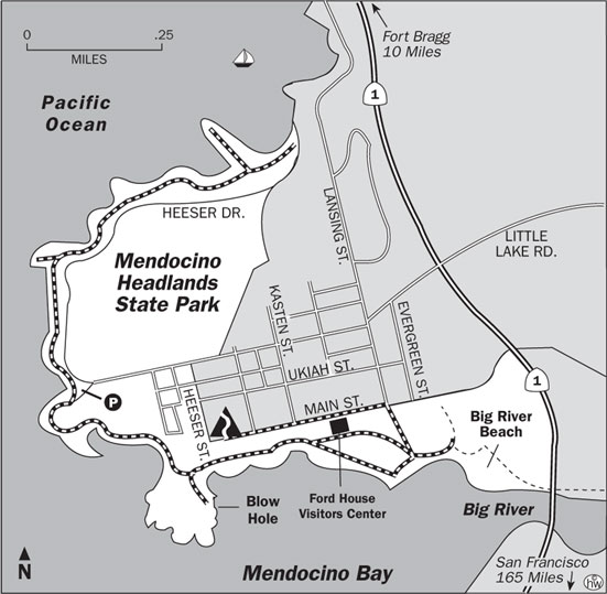 Mendocino Headlands Trail Map