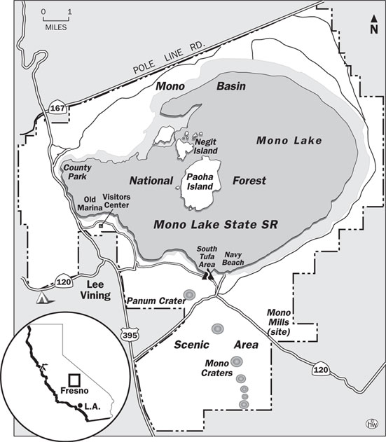 South Tufa Trail Map