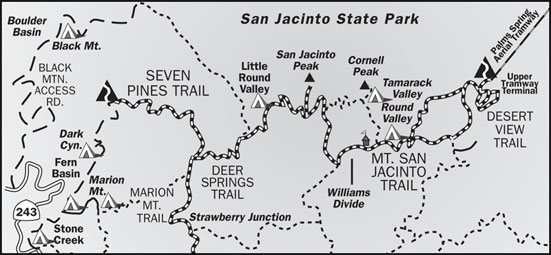 San Jacinto Peak Trail Map