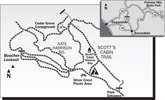 Scott's Cabin Trail Map