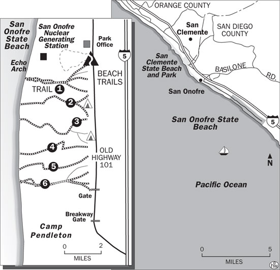 Bluffs Beach Trail Map