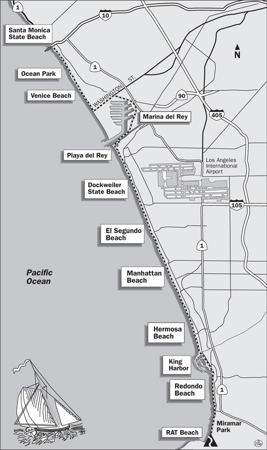 Santa Monica Bay Trail Map