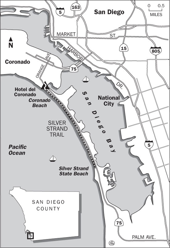 Silver Strand Trail Map