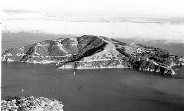 Birds eye view of Angel Island