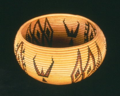 California Indian Basket with bird design