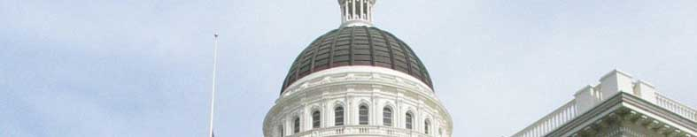 Outside View of cupola above the Capitol building at the California State Capitol Museum