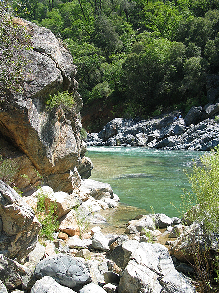 View of River and Rocks