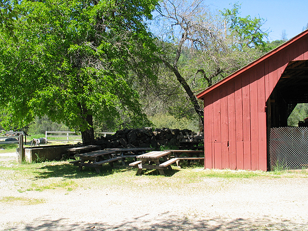 Picnic Area and Partial View of Barn