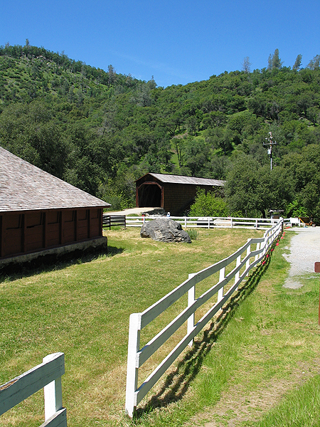 View of Barn and Bridge