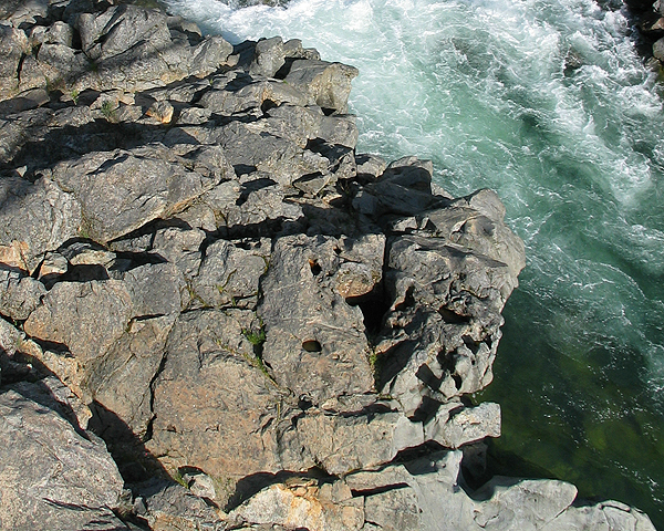 Closeup of Rocks and River