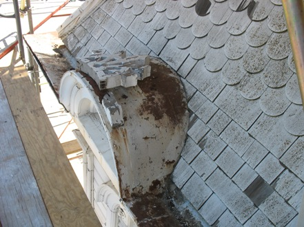 Damage to the Carriage House of the Mansion