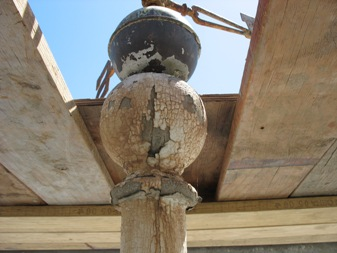 Damaged support pillar