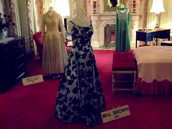 Dresses worn by California First Ladies.