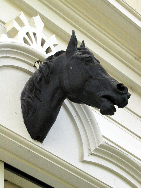 Detail of Horse Statue on Carriage House (visitor