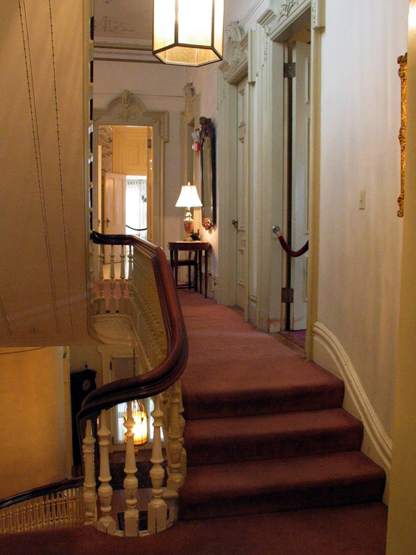 Stairs and hall.