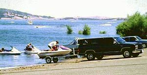 Waterskiing at Folsom Lake SRA