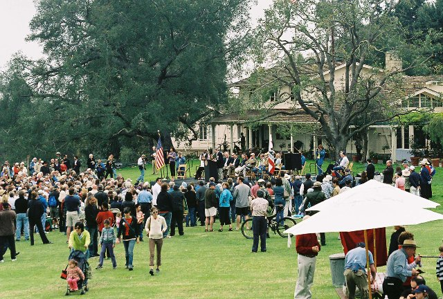 Rededication Ceremony March 25, 2006 at Will Rogers State Historic Park