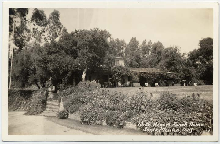 Will Rogers Ranch House Postcard (1930)